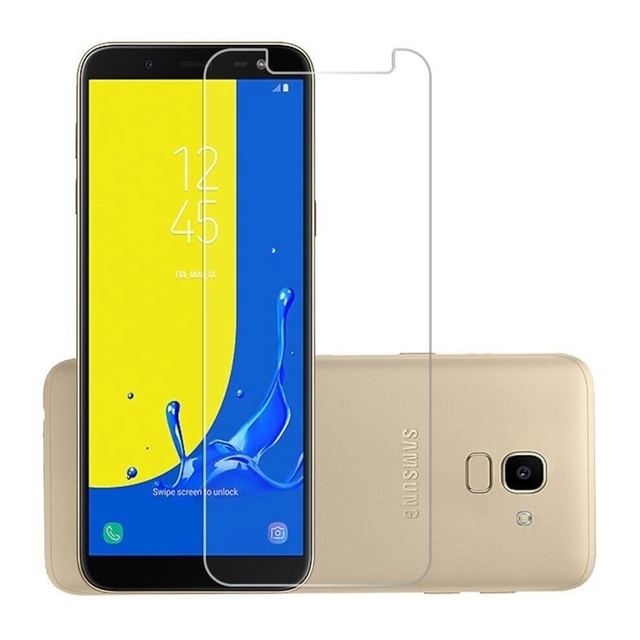 best sneakers ee66e 27b8f US $1.29 25% OFF|9H 2.5D Tempered Glass For Samsung Galaxy J6 2018 Screen  Protector J6 2018 SM J600F Protective Film Front Screen Cover-in Phone ...