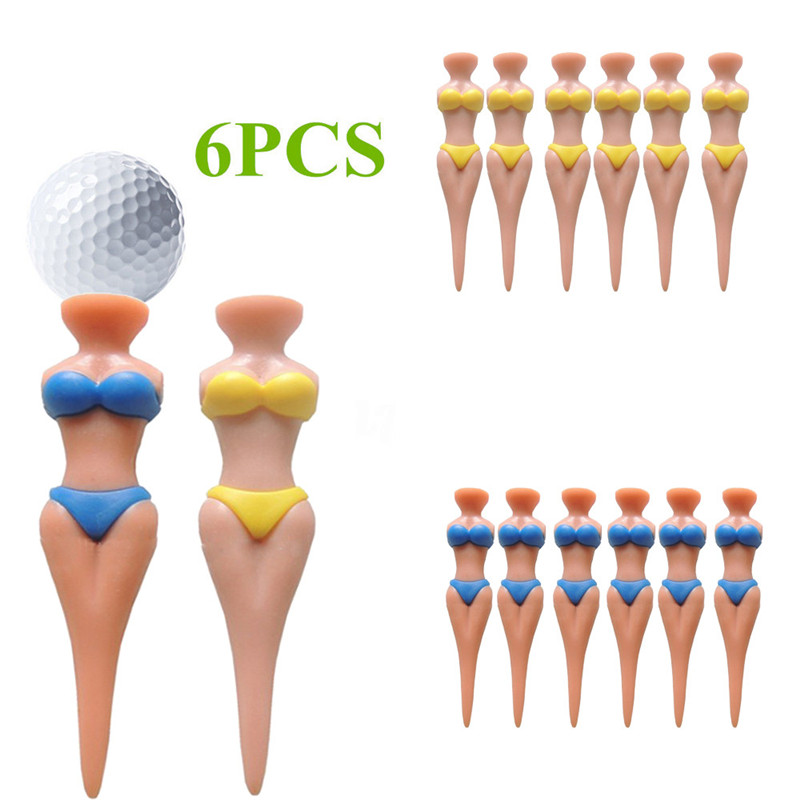 2018 6 pcs Bikini Lady Girl Golf Tees Divot Tools Kit Joke Christmas Stage Gift Party Safety & Survival Z1010 5Up