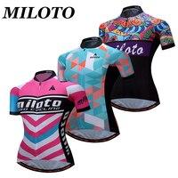 MILOTO 2017 Pro Team Women S Cycling Jersey Short Sleeve Bike Wear Breathable Bike Outdoor T
