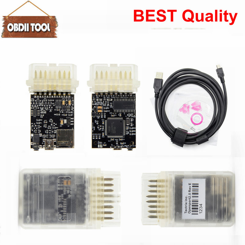 2 choose Black PCB Tactrix Openport 2 0 With ECU FLASH ECU Chip Tunning  Tactrix Openport 2 0 ECUFLASH With All SW Full Set