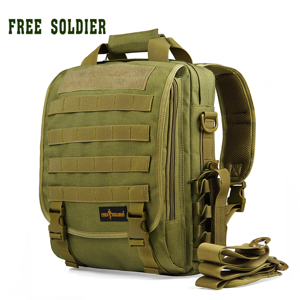FREE SOLDIER Outdoor Tactical Backpack Men Women Camping Hiking Travel Backpack 14 Inch Military Style Laptop Case Bag 2 Colors 14 15 15 6 inch flax linen laptop notebook backpack bags case school backpack for travel shopping climbing men women