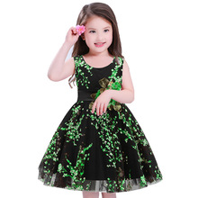 Vestidos Mujer Sale Hot Silk Flower Girls Summer Dress Carters Toddler Princess For Party Robe Enfant Kids Dresses Girl