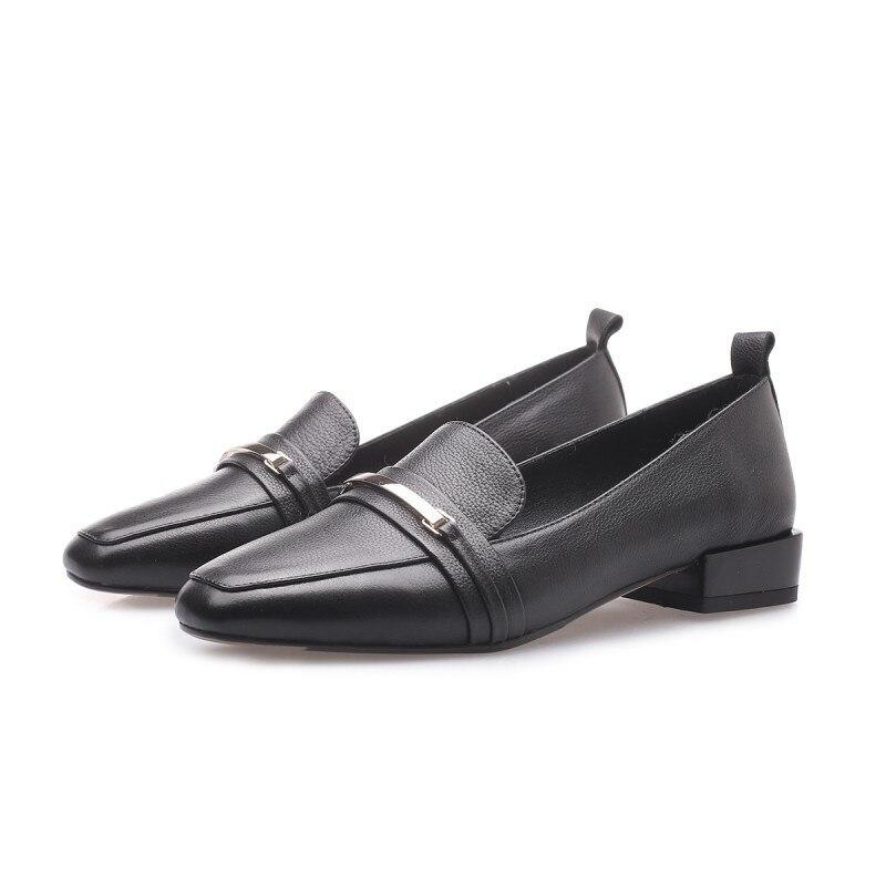 2019 Con 0406 Ljj Bajo De Ayudar Cabeza Para Negro A Nuevos Mujer Zapatos Primavera Boca Cuadrada Profunda rqAwOrFH