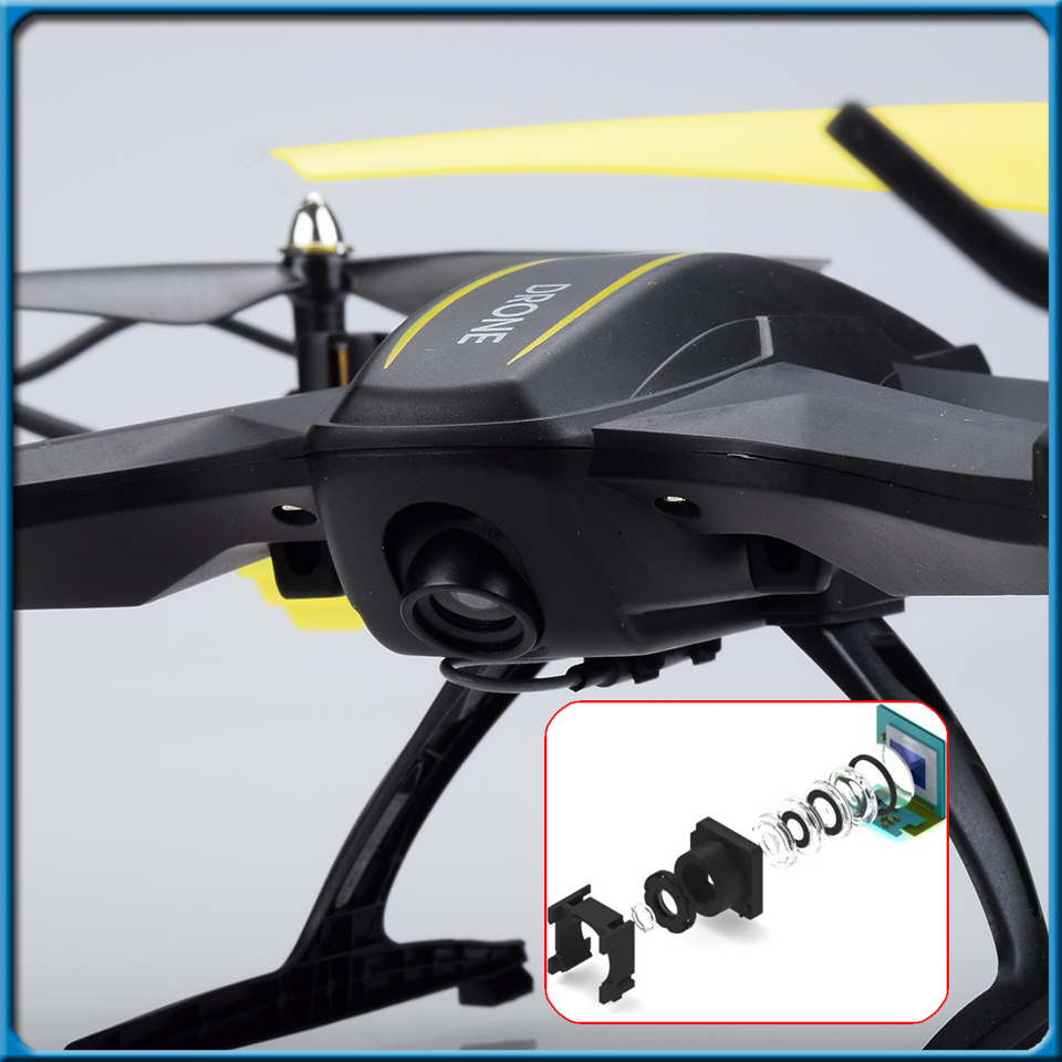 RC Drone with 120 degree Wide angle Wifi Camera HD RTF Remote Control Quadcopter Suitable for