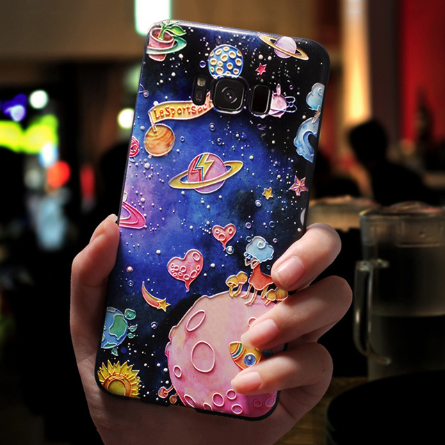 3D Emboss Cartoon For Samsung Galaxy Plus Note 8 9 Case TPU Cover 4