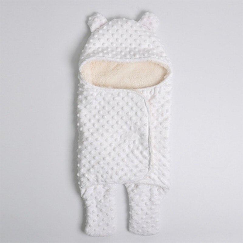 MOTOHOOD Coral Fleece Infant Swaddle Stroller Wrap For Newborn Baby Bedding Blankets Winter Thicken Velvet Baby Blanket Swaddle (1)