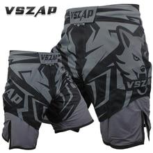 Горячая Распродажа Vszap MMA Тренировочные Короткие мужские шорты для тайского бокса Muay Thai Boxeo шорты Mma Fight trunks спортивные шорты