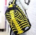 2017 Venda de Moda mochilas Mochilas personalidade esqueleto humano dh243 unisex ocasional saco Tendência mochila Saco de Viagem À Prova D' Água