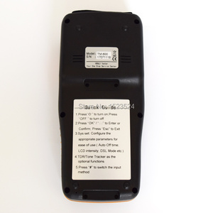 Image 5 - Free Shipping by DHL TM 600 VDSL VDSL2 Tester ADSL WAN & LAN Tester xDSL Line Test Equipment DSL Physical layer test