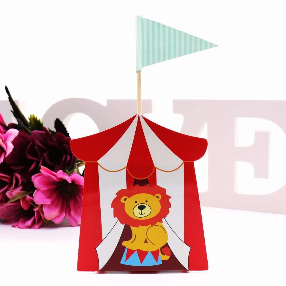 Caixa de doces dos desenhos animados caixa de doces de circo tema festa de aniversário crianças pacote de presente de casamento pacote de presente de convidado fot o convidado
