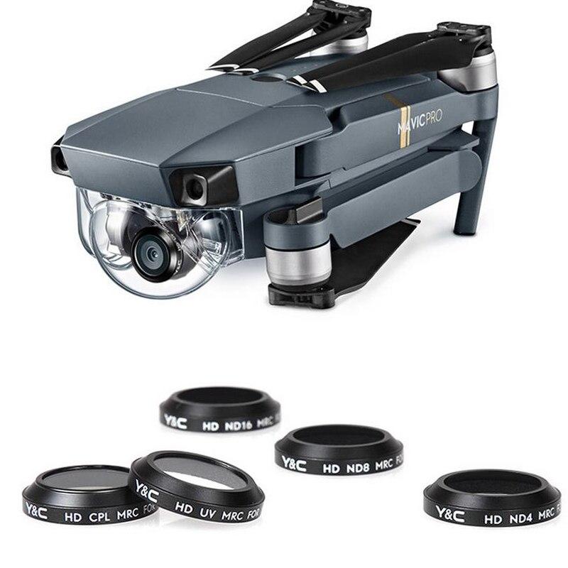 1 stücke YC Objektiv Filter UV CPL ND4 ND8 ND16 Camera Lens Filter für MAVIC Pro Drone