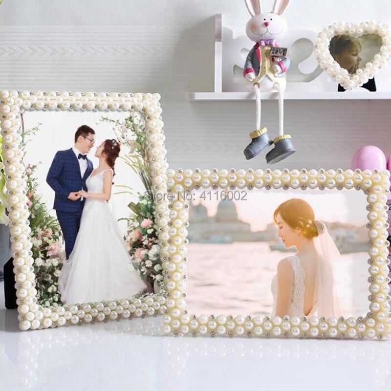Pearl Wedding Decoration Ideas: 20pcs European Pearl Diamond Decoration Photo Frame 7 Inch
