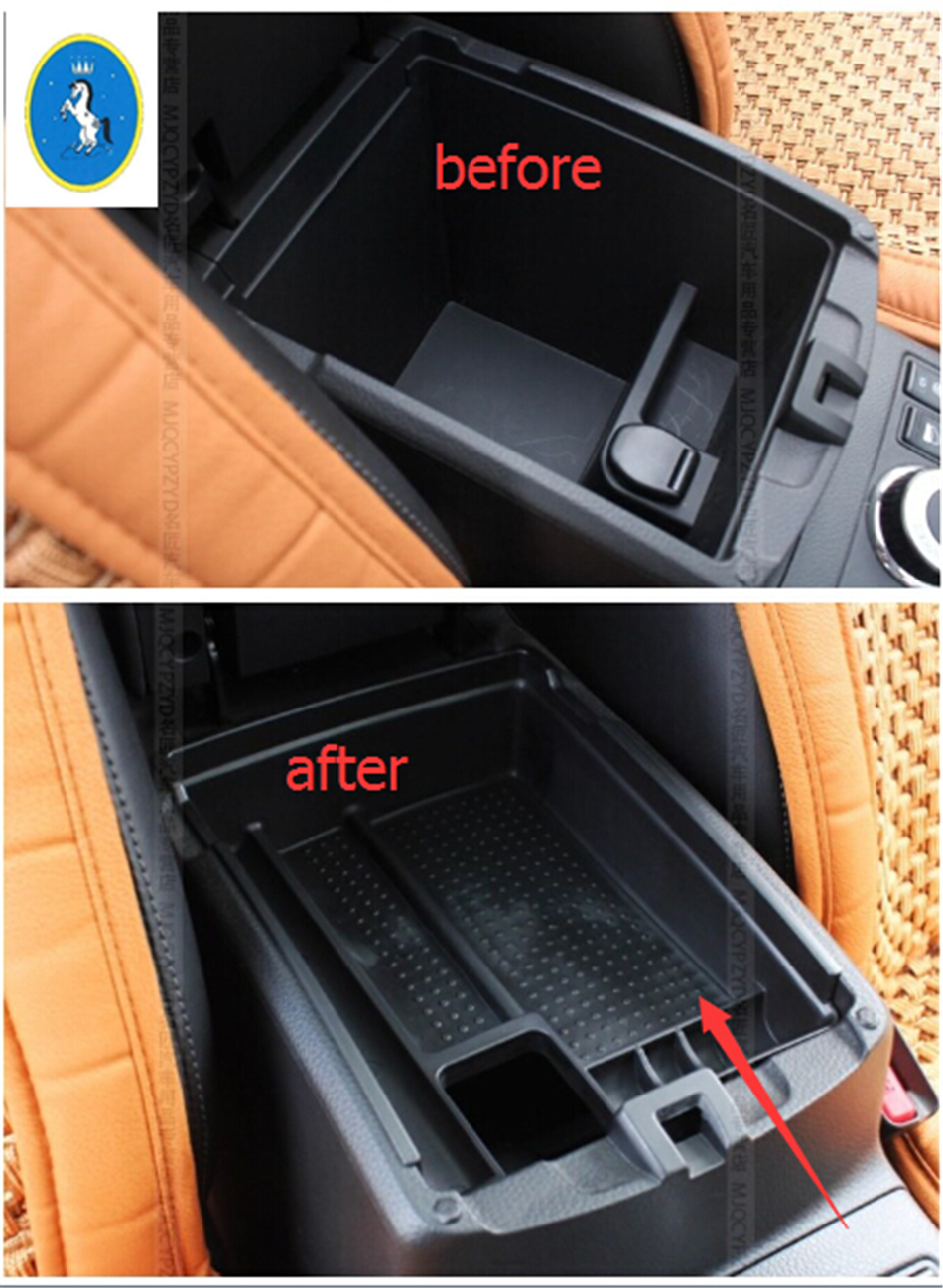 For Nissan X-trail T32 / Rogue 2014 2015 2016 New Style Plastic Central Storage Pallet Armrest Container Box A Set