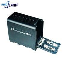 NP F970 de batterie vide factice NPF970 boîtier dadaptateur pour 6 pièces AA sadapte à LED panneaux lumineux de lampe vidéo ou moniteur YN300 III DV 160V...