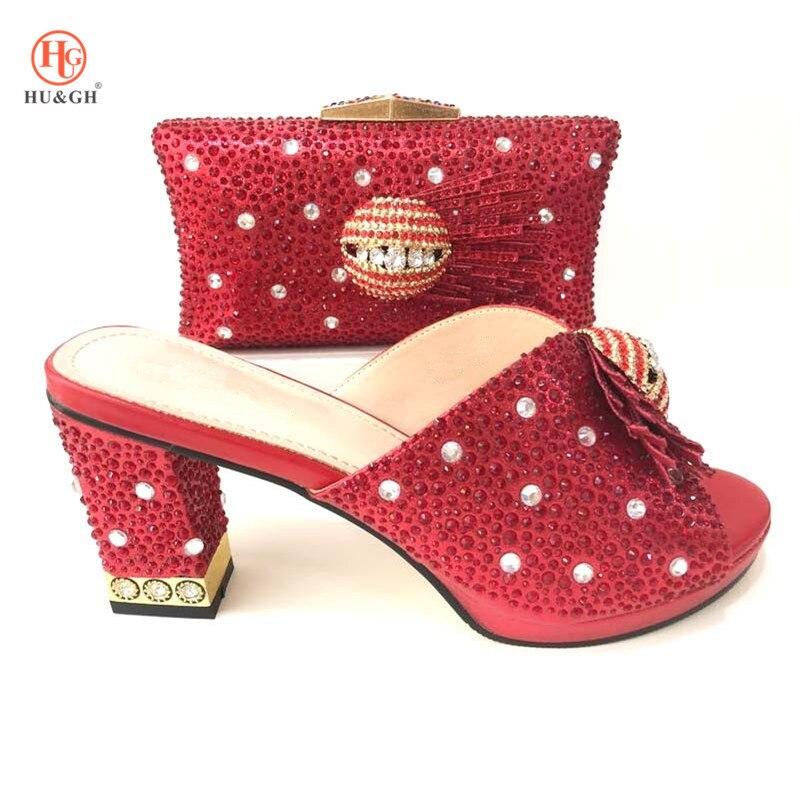 d537e9b2a5157f 2018 Marque Noir De Et Partie Luxe Italienne Chaussure Africaine Femmes  lawngreen Sac Nigérian Avec rouge Ensemble Assorti rose Pour ...