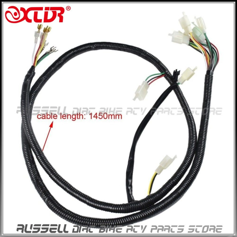Online Shop Wiring Harness Wire Loom For Gy6 125cc 150cc Engine Quad Mini Brushless Motor E Bike 1800w 48v Electric
