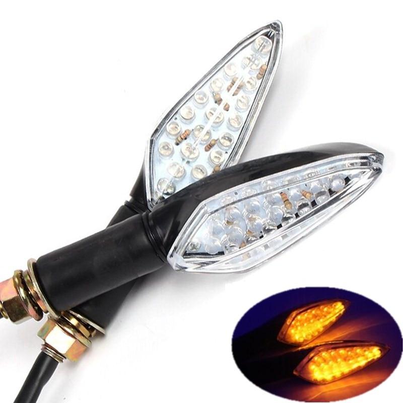 3 Colors Motorcycle LED Turn Signal Indicator Lights Flasher Lamp For Honda CBR 600 F2 F3 F4 F4I Yamaha R1 R6 FZ1 FZ6 FZ8 Suzuki
