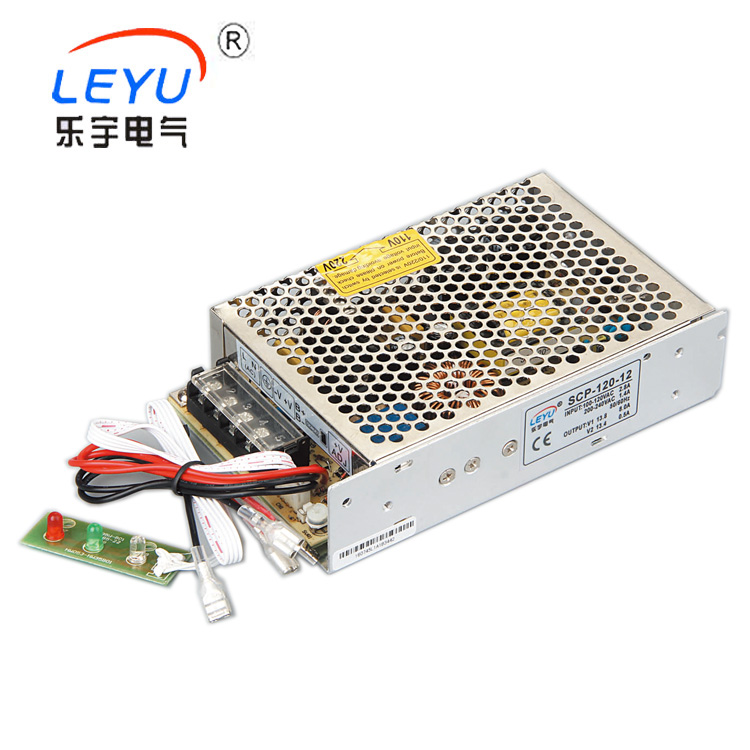 CE Approved Baterry charger 12V(13.8V)  SCP-120-12  120W switching power supply with UPS function ce approved 120w transformer 220v 24v