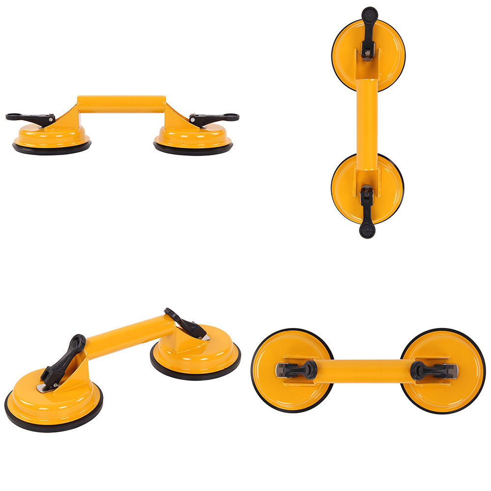 2 X Double Suction Cup Metal Window Puller Glass Lifter HK  Steel