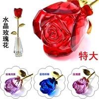 Креативный подарок на день Святого Валентина на свадьбу подарок на день рождения для девушки Хрустальная роза памятные свадебные подарки