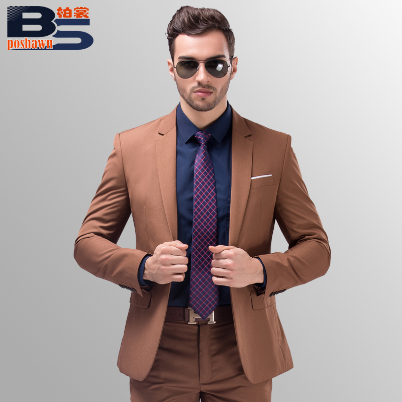2016 new high quality brand fashion dress men designer Designer clothing for men online sales