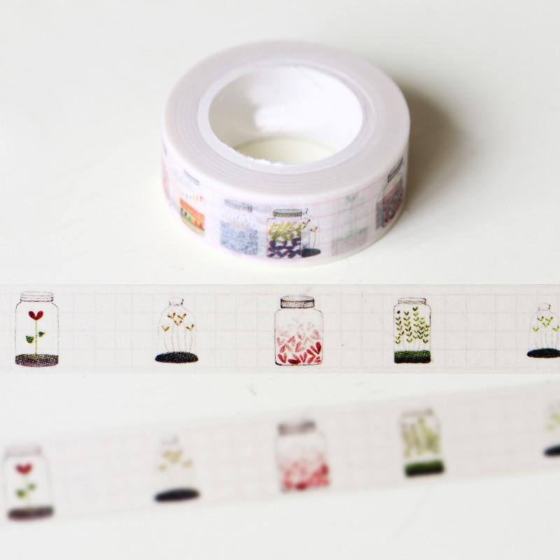 1 5 10m glass bottle washi tape diy decoration scrapbooking planner masking t - Decoration masking tape ...