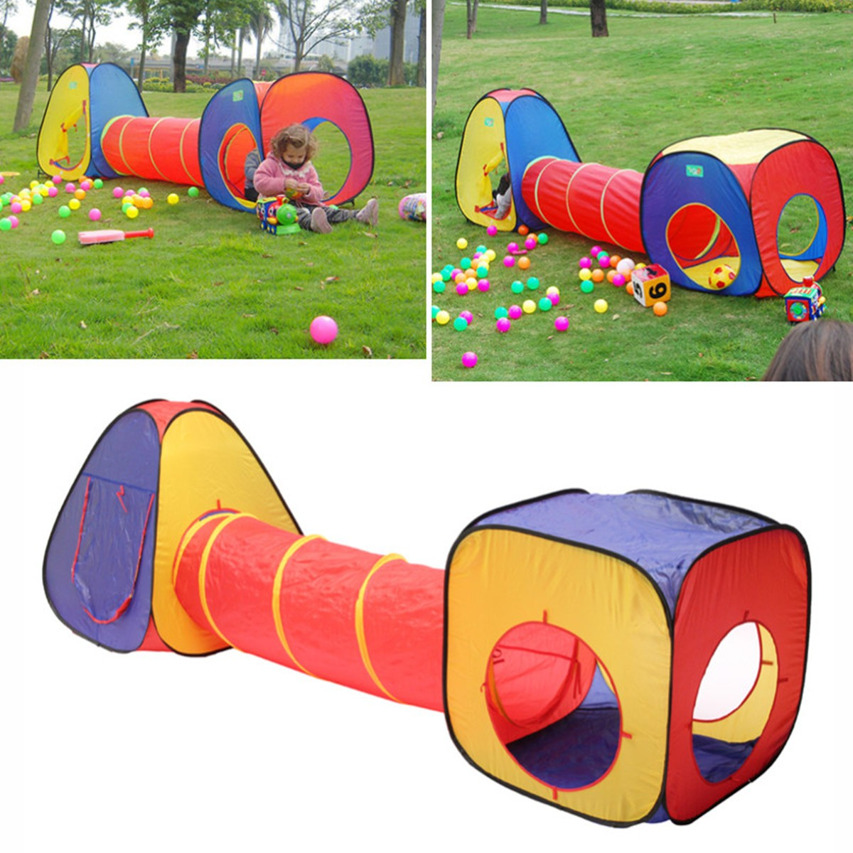 Portable Toys Tunnel Tent Pit Bal Pool Kids Tent Playhouse Children Ocean Play House Outdoor Sports Educational Toy
