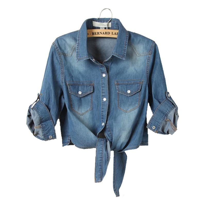 Women Basic Coats Half Sleeve Denim Short Jackets Fashion Spring Summer 2017 Slim Sexy Jeans Jacket Ladies Coat Casual Outwear