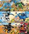 6 setsHot ninjagoes мех строительный блок танк dargon робот кирпич ниндзя Nya Ллойд Джей Коул Кай Зейн совместимость legoes игрушки