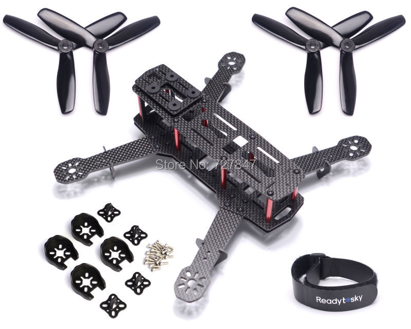 ZMR250 Carbon Fiber Quadcopter Frame Kit 4 Axis Mulitcopter + Motor Plastic Cover Protection 5045 3 Blade Propeller for QAV250 diy carbon fiber frame arm with motor protection mount for qav250 zmr250 fpv mini cross racing quadcopter drone