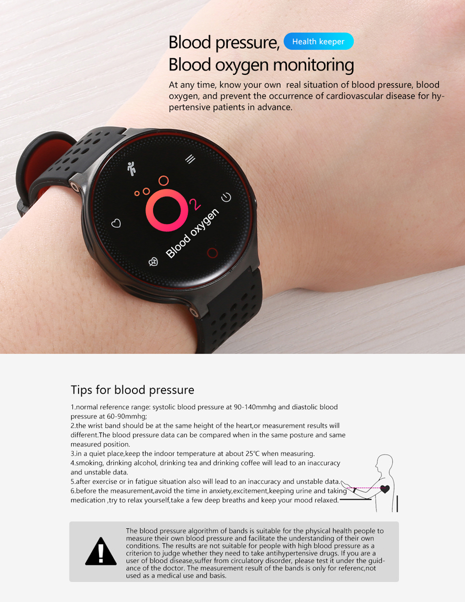 ColMi Smartwatch Heart Rate Tracker IP68 Waterproof Ultra-long Standby For IOS Android Phone Smart Watch 09