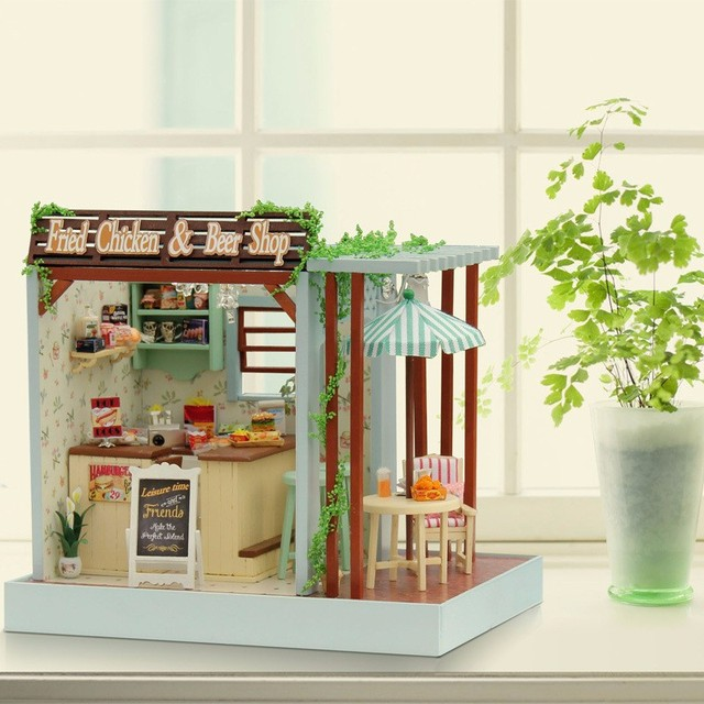 Hot Sale Assemble Miniature Dollhouse Diy Doll House Girl Gift