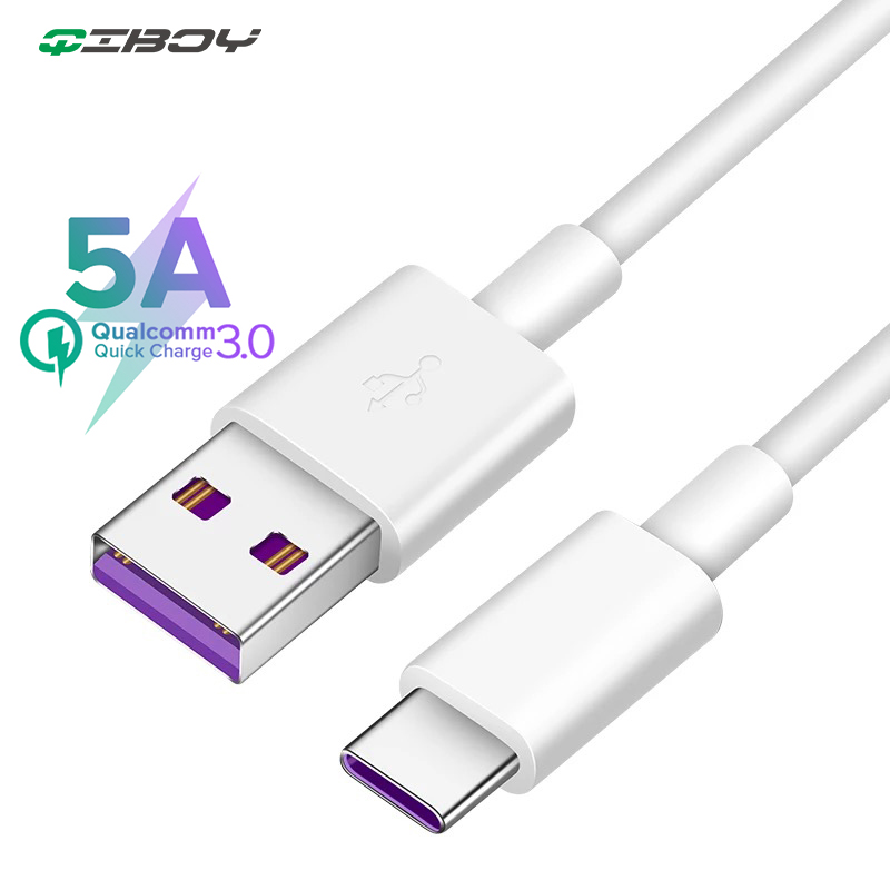 5A <font><b>Supercharge</b></font> USB Type C Cable for <font><b>Huawei</b></font> P20 Lite P30 Pro Quick Charging Fast Charger USB C Cable for Samsung S10 S9 USBC Wire image