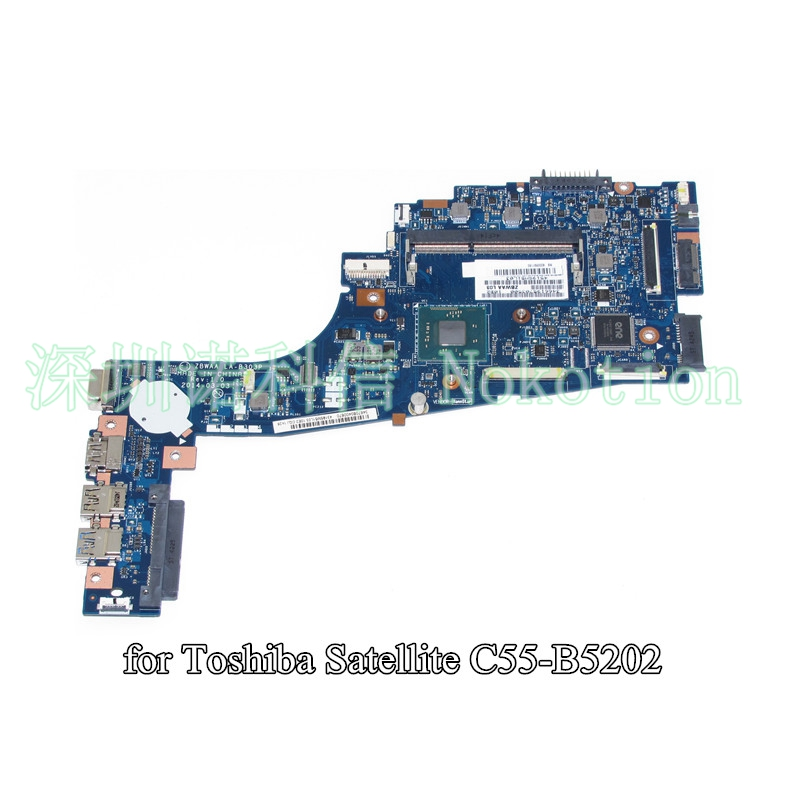 NOKOTION K000891180 For toshiba satellite C55 C55-B C55-B5202 Laptop motherboard 15.6 inch ddr3 SR1W4 N2830 CPU warranty 60 days ddr pc2700 512 мб для toshiba