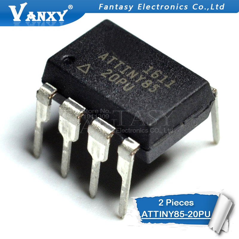 2PCS ATTINY85-20PU DIP-8 ATTINY85 DIP8 85-20PU ATTINY85-20 DIP New And Original