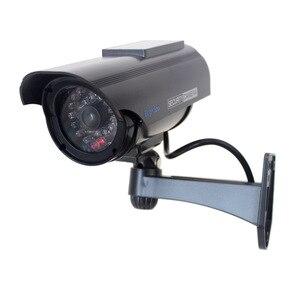 Image 3 - 2 pcs שמש Dummy CCTV מצלמה סימולציה מזויף אבטחת מצלמה שווא מצלמת סוללה מופעל חיצוני Bullet מעקב וידאו מצלמה