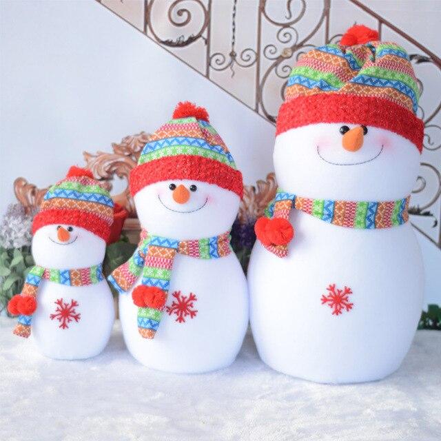 lovely Foam Snowman toy Christmas Decorations Rainbow hat Santa ...