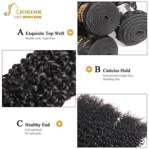 Image 5 - Joedir変態カーリーバンドル閉鎖カーリーブラジル毛織りバンドルとともに1閉鎖の人間のヘアエクステンション