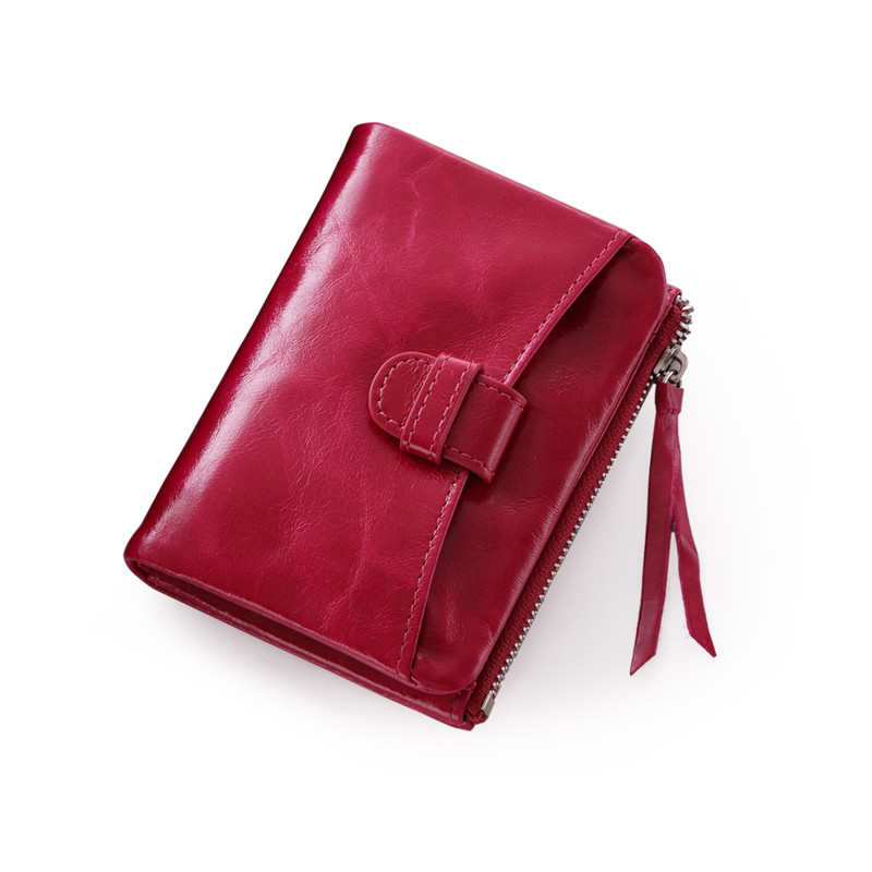ФОТО Promotion Women's Top  Oil Wax Leather Bifold Coin Wallet Purse Driver's License ID  Wallet Credit Card Receipt Holder Q460