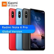 Küresel Sürüm Xiaomi Redmi Not 6 Pro 4 GB 64 GB Cep Telefonu Snapdragon 636 Octa Çekirdek 20MP + 2MP Ön kamera 6.26