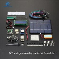 شحن مجاني DIY ذكي محطة الطقس كيت لاردوينو كيت أفضل 190*140*100 ملليمتر الإلكترونية diy كيت