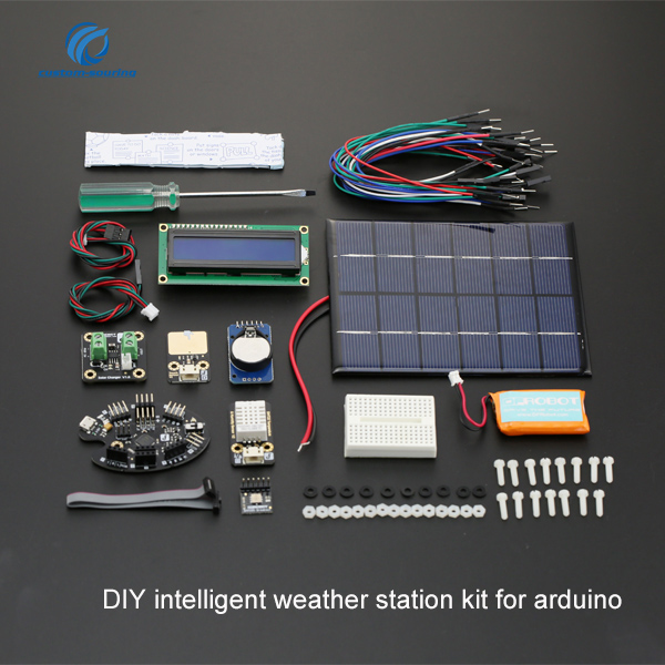 Free shipping DIY intelligent weather station kit for arduino kit  best 190*140*100mm electronic diy kit