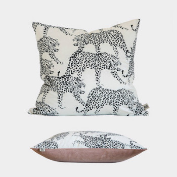 Black Leopard Cushion Cover
