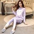 2016 Nova Inverno Entero Pijama Pijama De Algodão Para As Mulheres Pijama Pijamas das Mulheres Femme Mujer Mulheres Pijama Pijama Feminino Pigiami