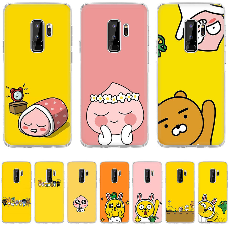 Gerleek Kakao Tier <font><b>Hard</b></font> Cover Für Samsung Galaxy Note 9 8 S3 S4 S5 S6 <font><b>S7</b></font> Rand S8 S9 S10 s10E Plus M10 M20 M30 Fall image