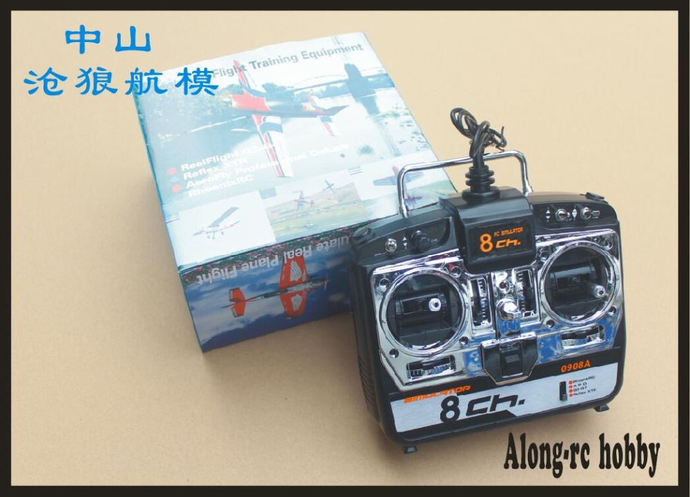 8CH RC Simulator Real Flight Helicopter 3D airplane MultiCopter Quad Simulator 0908A Mode 1 or Mode 2 With CD Disk G7