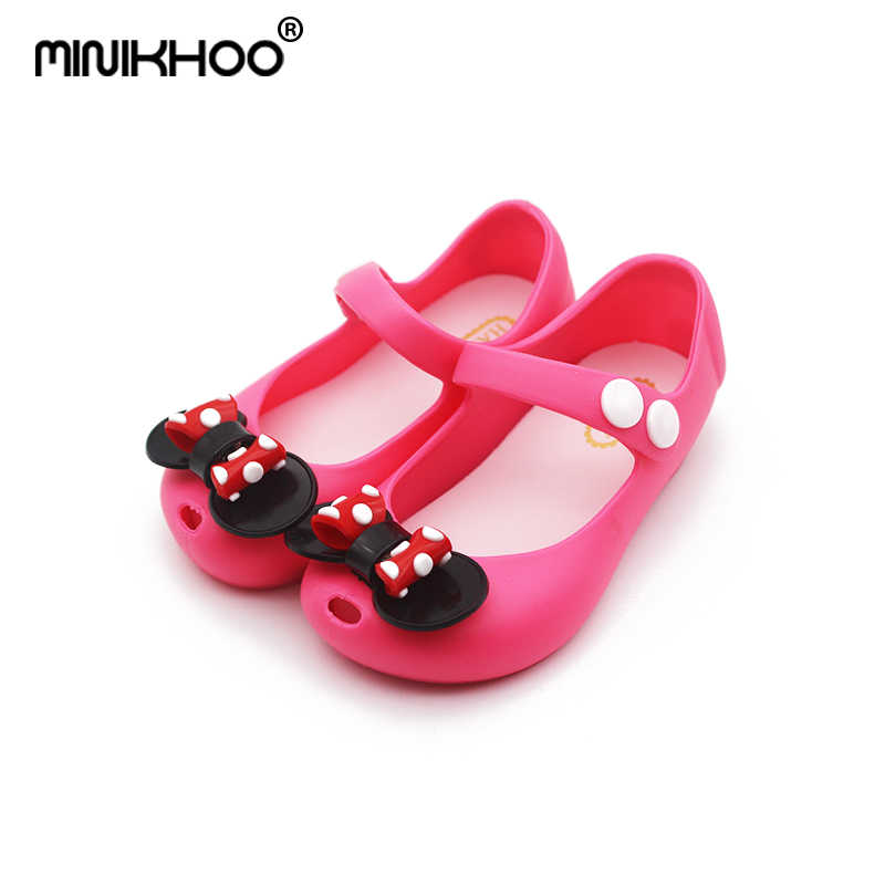 755ac200e52d Mini Melissa 2018 New Mickey Bowknot Jelly Princess Sandals Shoes Girl  Jelly Sandals Baby Jelly Sandals