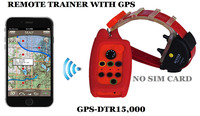WATERPROOF DOG TRAINING COLLAR WITH GPS TRACKER RANGE 15 KM with BUILD in ANTENNA