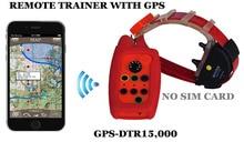 Водонепроницаемый кинологический воротник с GPS трекер диапазон 15 км