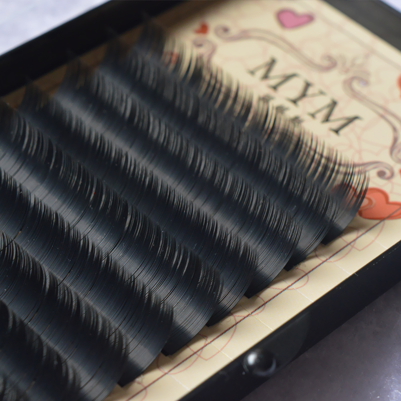 12Rows soft  mink individual eyelash lashes maquiagem cilios for professionals  mink eyelash extension curl lashes fake lashes